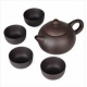 5Pcs/set Kung Fu Tea Chinese Ceramic Cups Yixing Purple Clay Tea Pot