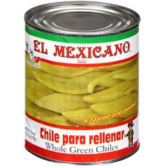 El Mexicano Whole Green Chiles. 765gm.