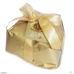 Lazzaroni Classic panettone - Gold - Hand-wrapped - 1kg.
