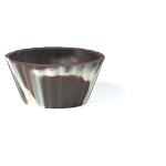 Dobla Ballerina cups marbled chocolate 65mm box 105