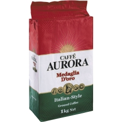 Café Aurora Italian Style Ground Coffee. 1kg.