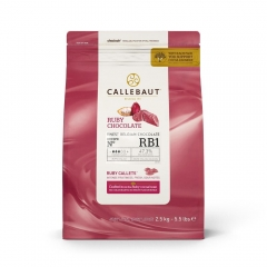 Callebaut Ruby Chocolate Callets. 2.5kg.