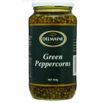 Delmaine Green Peppercorns. 950gm.