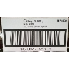 Cadbury Flake Mini Bars 8.5gm. x 200