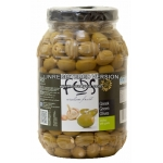 Green Chalkidiki Olives stuffed with Garlic PET 3kg(2kg drained)