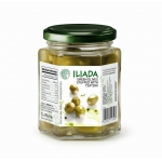 Greek Iliada Green Olives stuffed with tzatziki. 250gm.