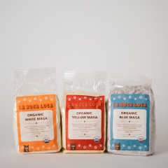 La Boca Loca ORGANIC Blue, White or Yellow Masa. 500gm.