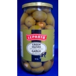 Lepanto Green olives stuffed with Garlic. 1kg.