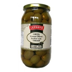 Lepanto Greek Olives Stuffed With almonds. 1kg.