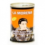 La Morena Refried Black Beans. 440gm.