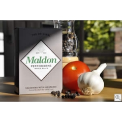 Maldon Whole Black Peppercorns. 40gm.