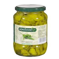 "Greek ""Makedoniki Gi"" Pickled Golden Peppers. 670gm."
